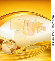 guld, bakgrund, affär, elegant