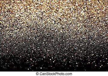 guld, bakgrund, glitter, silver