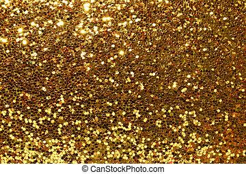 guld, bakgrund, glittrande