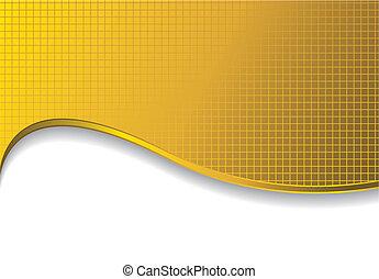 guld, bakgrund, skugga
