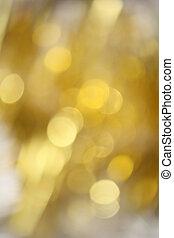guld, bokeh