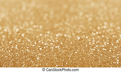 guld, defocused, glitter, bakgrund.