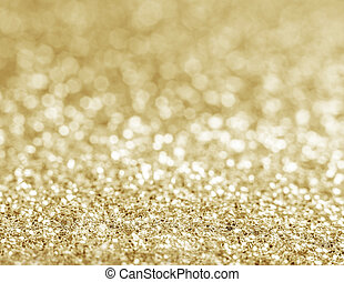 guld, defocused, glitter, bakgrund