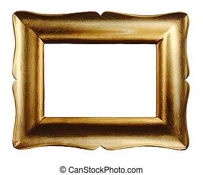 guld, föreställa inramar