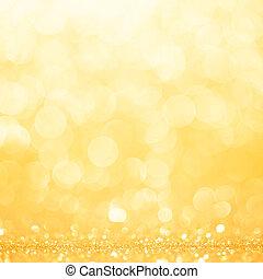 guld, fjäder, eller, sommar, bakgrund