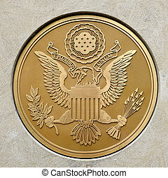 guld forsegl, by, militær, bevæbne fremtvinge