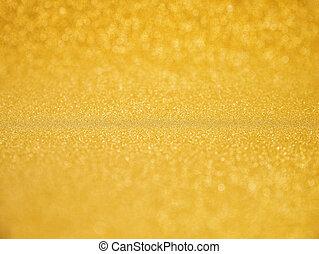 guld, glödande, fira, bakgrund, glitter, jul, bakgrund
