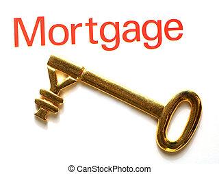 guld, hypotek, nøgle, yen