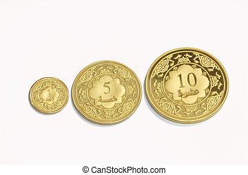 guld, islamitisk, dinar