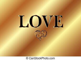guld, kärlek, ord
