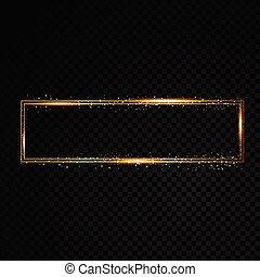 guld, ljust, teater, glödande, retro, bio, neon signera