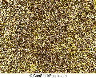 guld, makro, uppe, bakgrund., nära, glitter