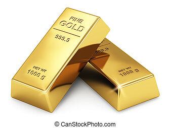 guld, metalltackor
