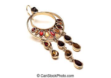 guld smycken, örhängen