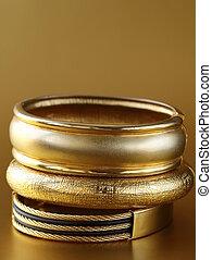guld smycken, armband