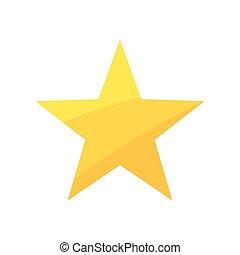 guld, star., vektor, illustration