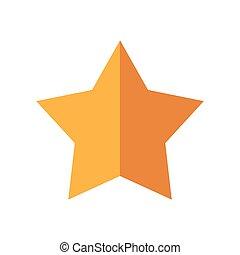 guld stjärna, icon., utmärkelsetecken, design., vektor, grafisk