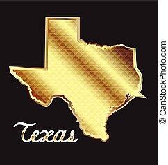 guld, texas tillstånd kartlagt