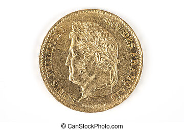 guldmynt, med, louis-philippe