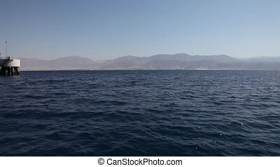 Gulf of Aqaba, Red Sea. View from a boat