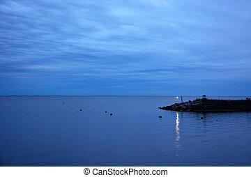Gulf of Finland at the evening at summer season