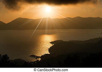 Gulf of la Spezia at Sunset