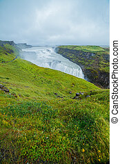 Gulfoss - golden falls. Icaland