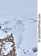 Gulfoss in winter, Iceland