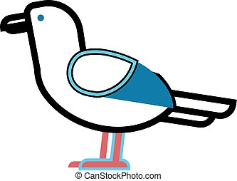 Gull bird animal vector.