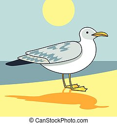 Gull flight bird and seabird gull. ?artoon looking gull....