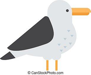 Great black-backed gull larus marinus sea wildlife animal...