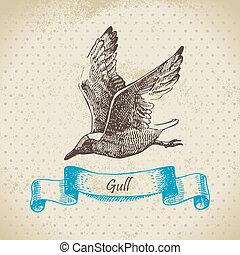Gull. Hand drawn illustration