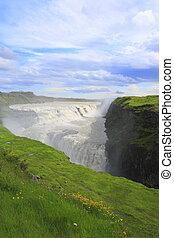 Gullfoss is a waterfall in Iceland