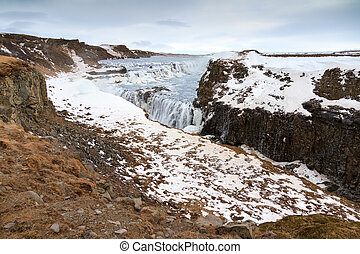 Gullfoss landscape - Beautiful view on the famous Gullfoss...