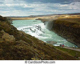 gullfoss - Gullfoss waterfall in islanda, near geysir