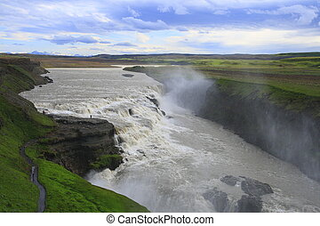Gullfoss is a waterfall in Iceland