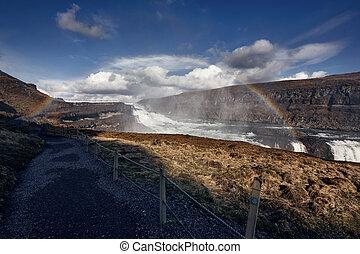 Gullfoss The Great Watefall, Iceland