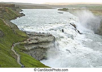 Gullfoss waterfall (Iceland)