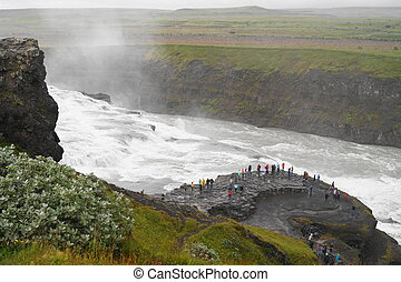 Gullfoss, waterfall in Iceland