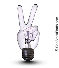 gumó, lámpa, v-hand