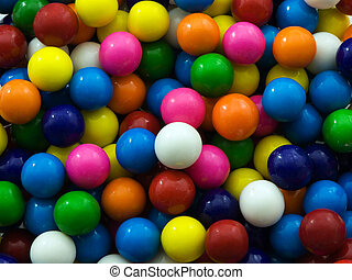 Gum Ball Background - Multi-colored gum ball background or...