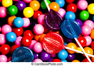 Gumballs and Lollipops Candy