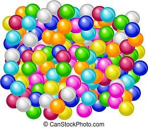 Coloured gumballs