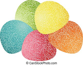 Gumdrops Candy - Scalable vectorial image representing a ...