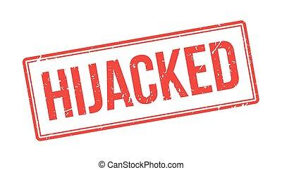 gumi, bélyeg,  hijacked