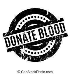 gumi bélyegző, adakozik vér