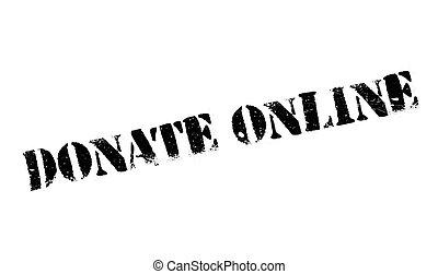 gumi bélyegző, adományoz, online
