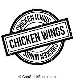 gumi bélyegző, csirke szárny