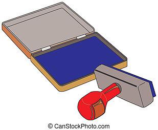 gumi bélyegző