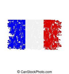 gumi bélyegző, lobogó, struktúra, franciaország